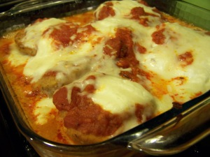 eggplant parm is so delicious