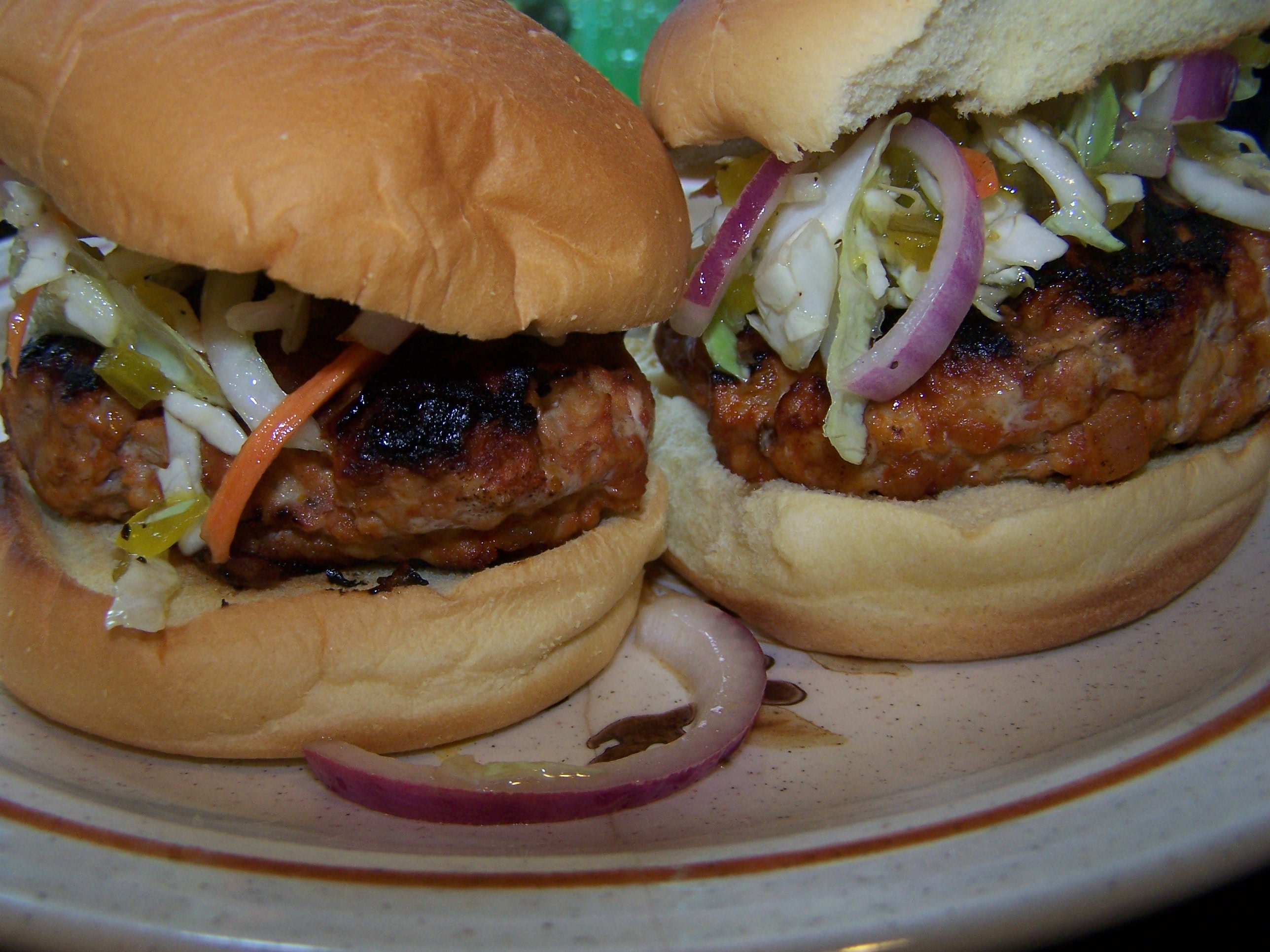 Bbq Chicken Burgers With Honey Slaw A Chicken In Every Crockpot